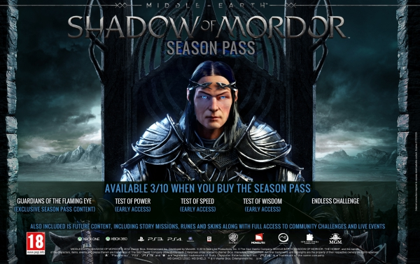 Middle-earth: Shadow of Mordor Трейлер Season Pass